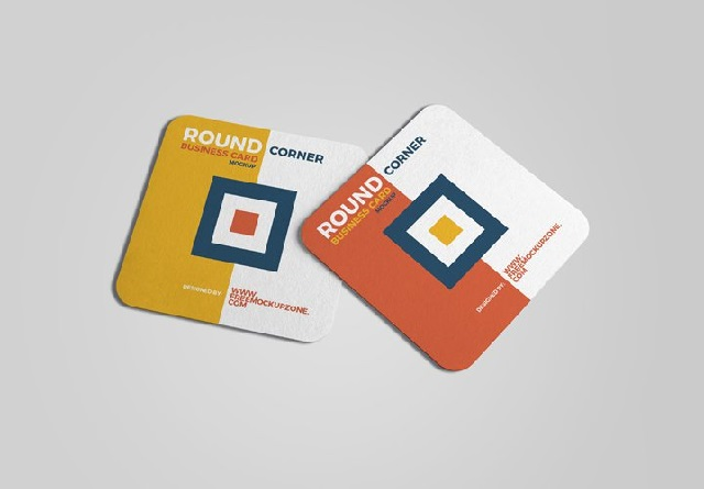 Border radius business cards
