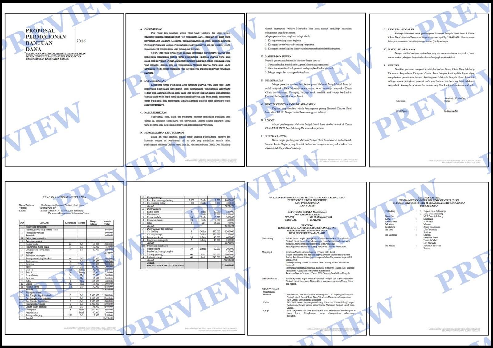 Contoh Proposal Permohonan Bantuan Dana Pembangunan Madrasah ~ KUMPULAN SURAT PENTING