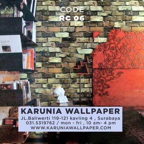 jual wallpaper dinding batu bata