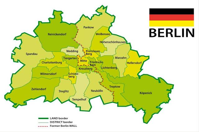 Mapa de Berlim