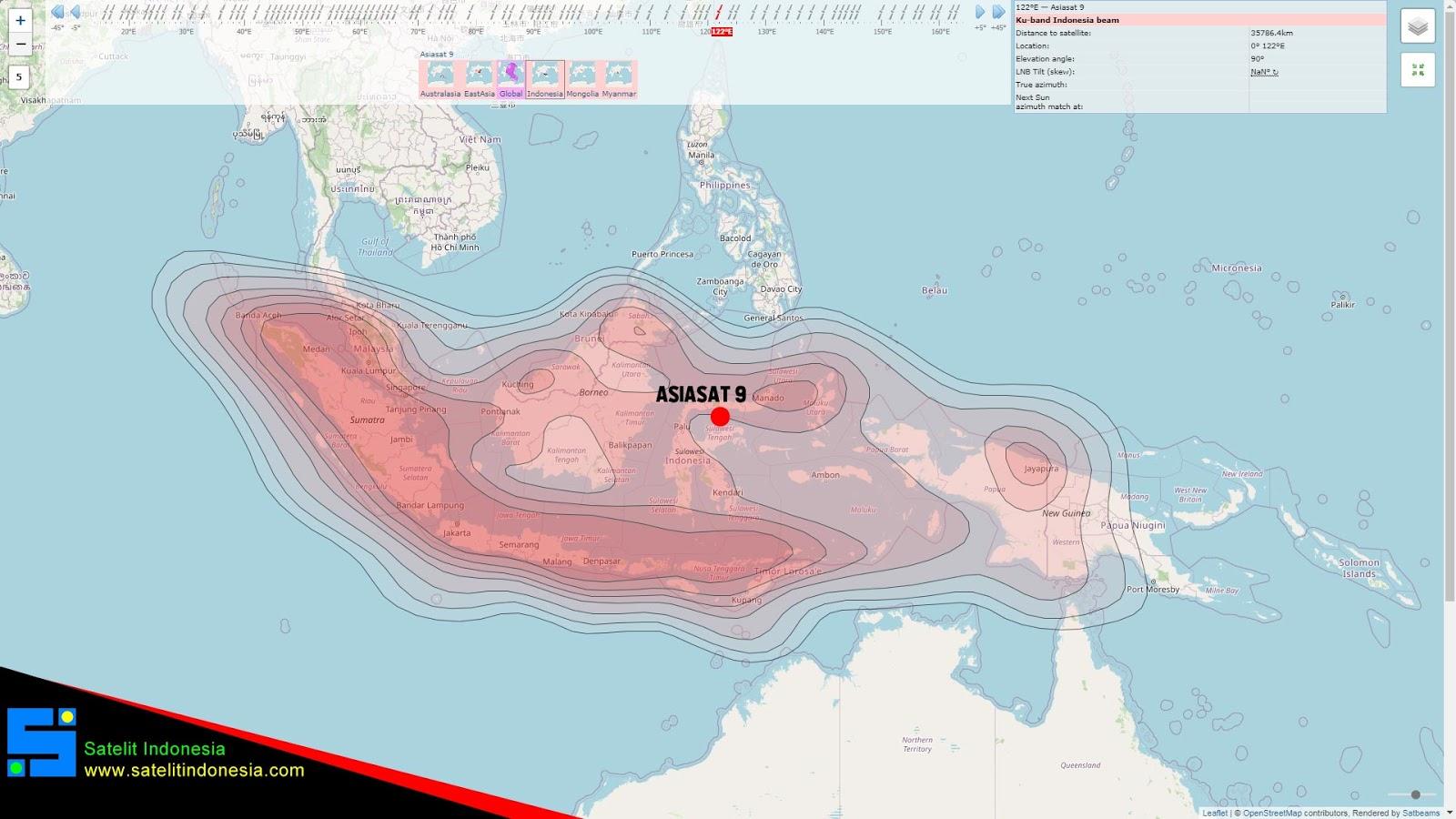 Cara Tracking Asiasat 9 Ku Band Untuk Mencari Ninmedia