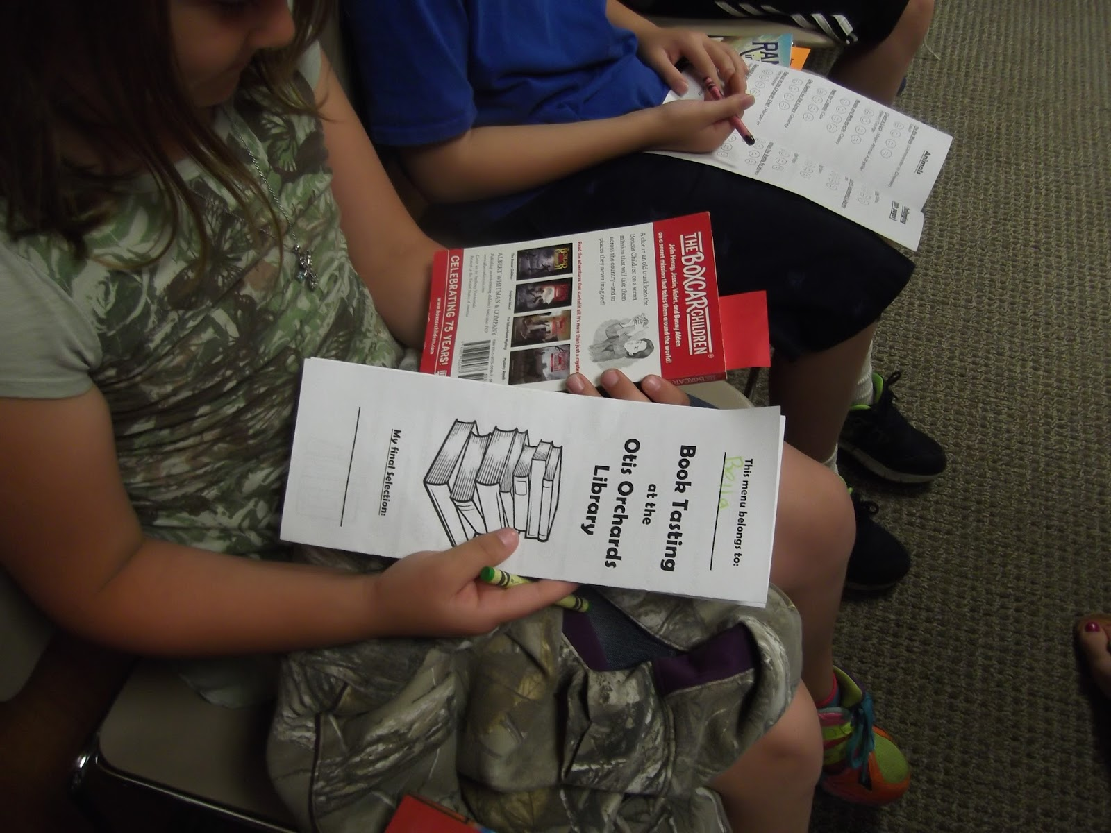 Storytimes and More: Book Tasting Event with 3rd Graders