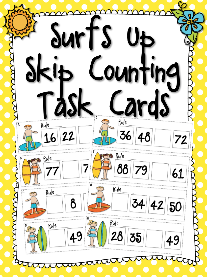 FREE Skip Counting QR Code Task Cards. Looking for ideas & activities for teaching number patterns & skip counting? Place these cards in your math centers along with an iPad or hang up around the room to use as a scavenger hunt. Easy and engaging way to integrate technology and QR codes in the classroom!
