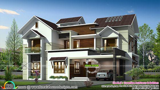 3094 square feet 4 bedroom modern home plan