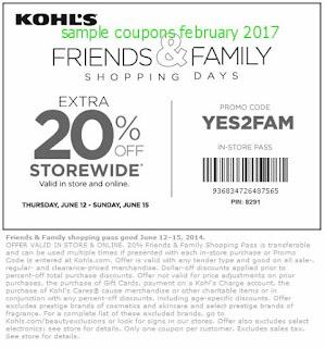Kohls coupons february