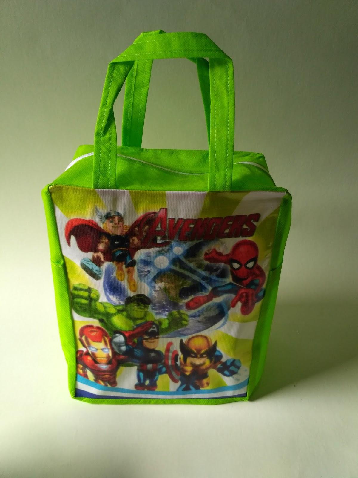 Tas Ultah Anak Resleting Spunbound Avengers