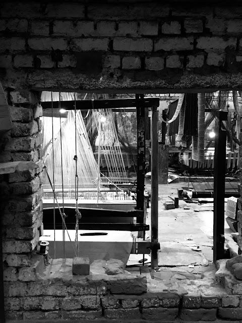bricks, India, photography, hand loom, machines, perspective