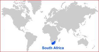Gambar Peta letak Afrika Selatan
