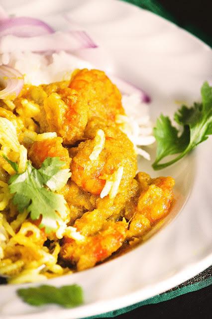 posto chingri / bengali style prawn curry with poppy seeds paste recipe