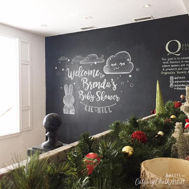 Chalkboards Calgary baby Shower Rozzie Q Haute
