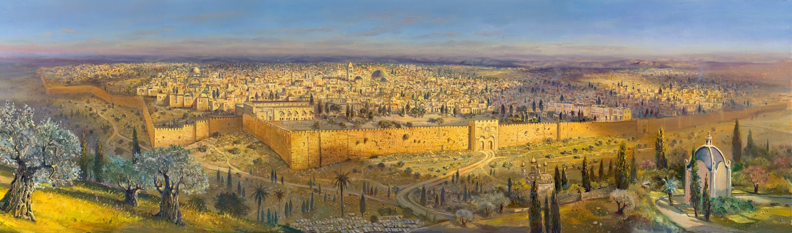 Alex Levin - Pinturas da cidade de Jerusalém