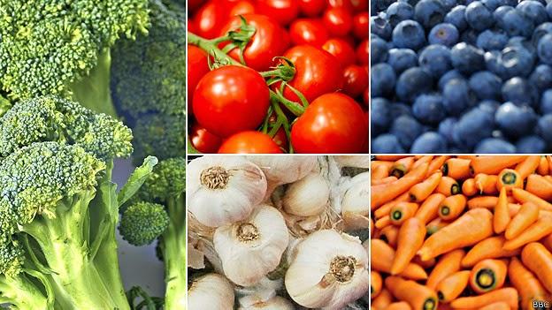 Una gua a todo color para comer siete frutas o verduras
