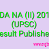 NDA and NA 2 2018 Result declared. Check your result here.