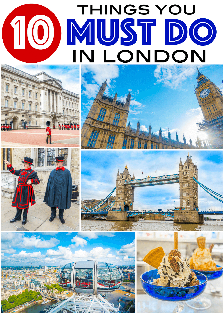 10 Things You MUST DO in London - Buckingham Palace, Changing of the Guards, the theater, London Eye, Tower Bridge, Tower of London, Thames River Boat, Churchill War Room, Pubs, Shopping at Harrods, Westminster Abbey and Big Ben! PLUS the BEST meal I've ever eaten! Don't miss this!
