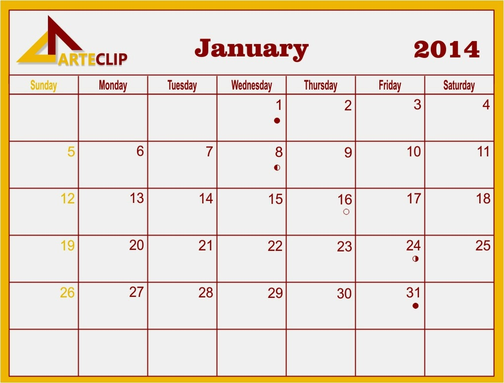 January 2014 calendar ready for printing, busyok