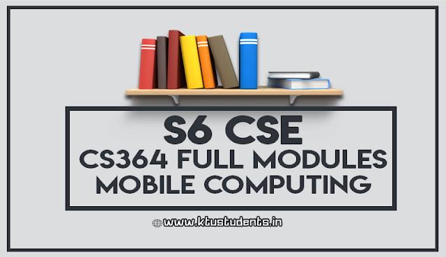 cs364 mobile computing full notes