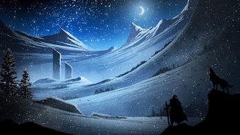 Digital Art, Fantasy, Snowing, Scenery, Landscape, 4K, #4.1004