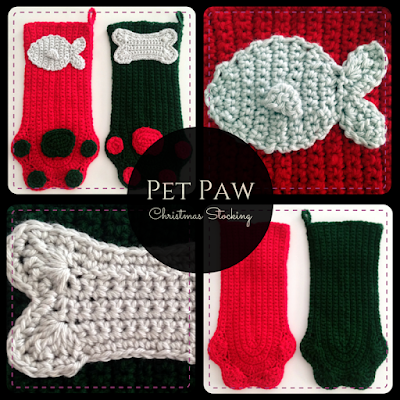 Pet Paw Christmas Stocking