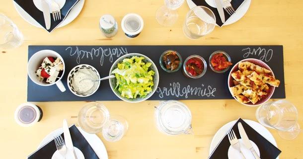binedoro diy eine beschreibbare tafel buffetplatte f r. Black Bedroom Furniture Sets. Home Design Ideas