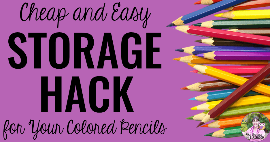 Cheap And Easy Storage Hack For Colored Pencils In Your