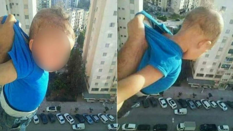 Bayi diayun-ayunkan pria Aljazair dari lantai 15