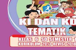 KI dan KD Tematik Kelas 6 SD Semester 1 Kurikulum 2013 Revisi 2018
