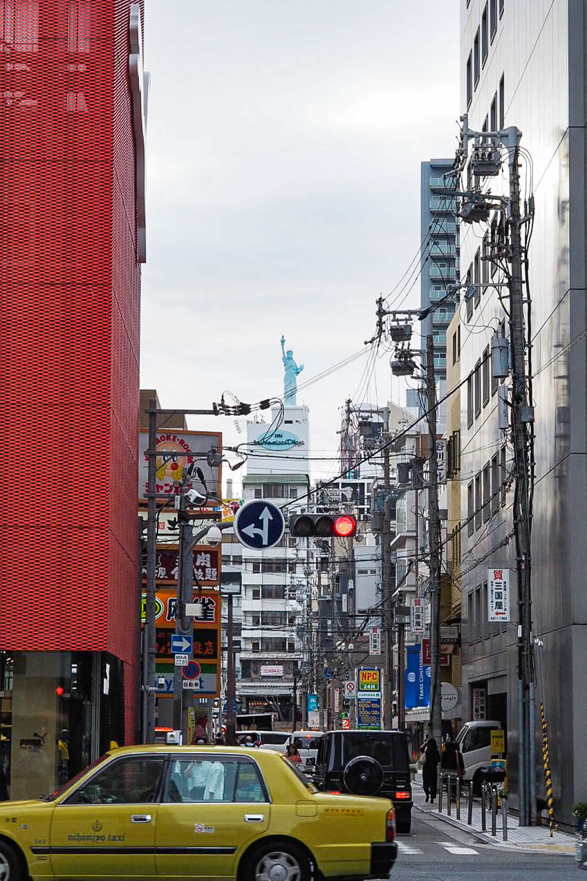 Statue of Liberty replica in Osaka
