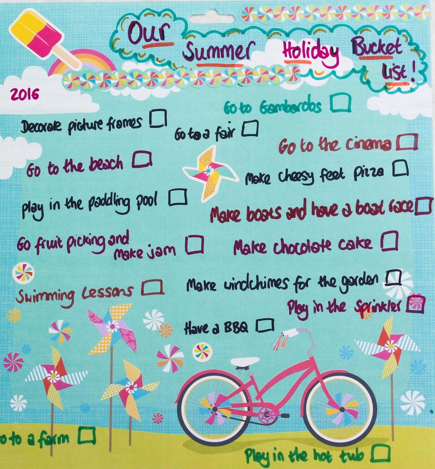 All The Plans We Came Up With Was To Make A Summer Holiday List Can Tick These Off As Go And Leave Few Blank For Spontaneous Fun