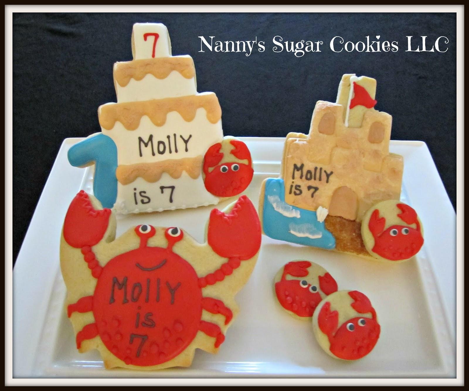 Nannys Sugar Cookies Llc Celebrating A 7th Birthday With Sand