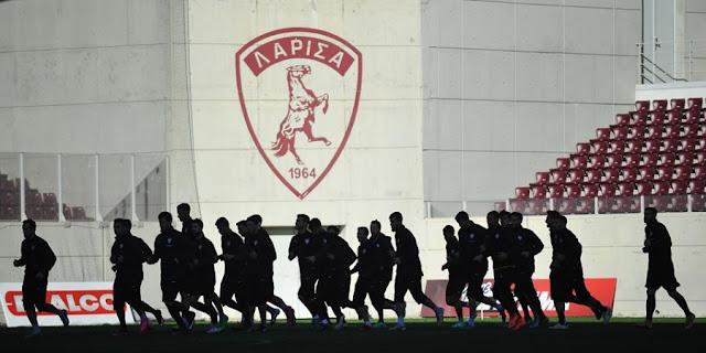 Η αποστολή των παικτών της ΑΕΛ για την αναμέτρηση με τον Ολυμπιακό.