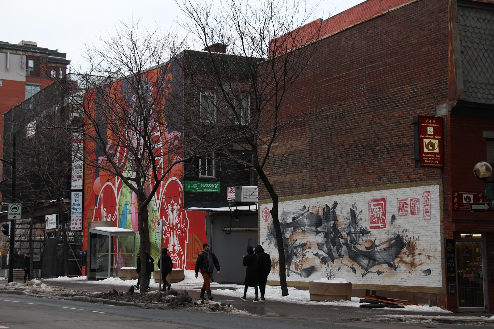 Street art in montreal part 1 pr t vivre ready to for Art mural montreal