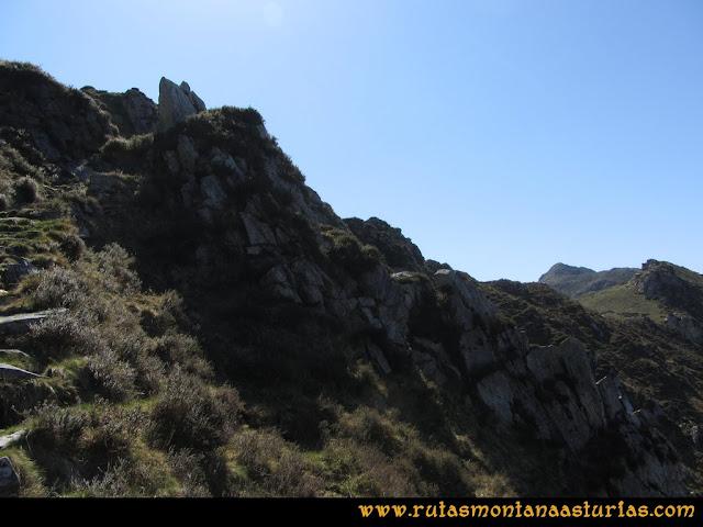 Ruta Ardisana, pico Hibeo: Camino en la cara norte