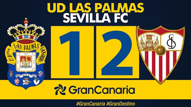 Marcador final UD Las Palmas 1-2 Sevilla