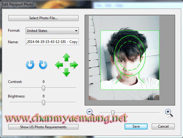 Photoshop မသံုးဘဲ... Passport ပံုလုပ္ၾကရေအာင္... by CHAN LAY (MCMM)