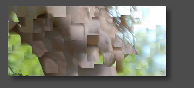imágenes fotos creativas cubismo erótico de cuerpos desnudos de mujer,