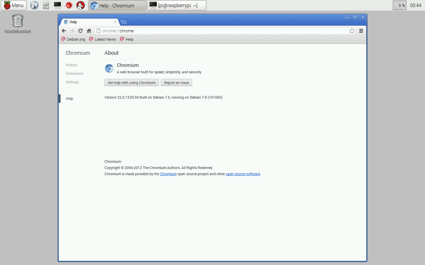Hello Raspberry Pi: Install and run Chromium web browser on