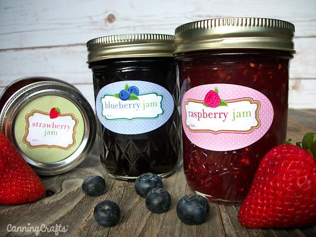 Fruit Jam Jar Labels | CanningCrafts.com