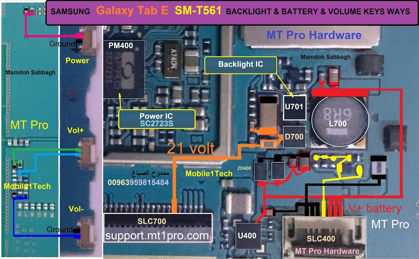 Samsung Sm T561 Backlight Battery Ways Mobile1tech