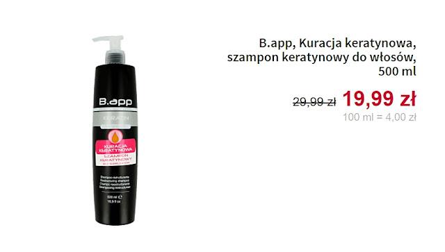 B.app, Kuracja keratynowa - szampon keratynowy do włosów