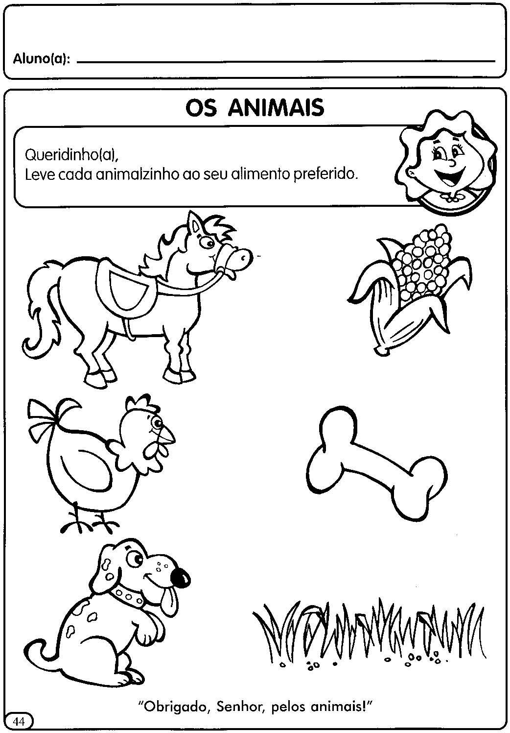 Alegria De Aprender Na Educacao Infantil Atividades Sobre Os Animais Domesticos Selvagens