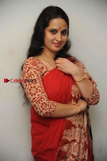 Kannada Actress Lakshmi Hegde Pos in Red Saree at Tab Movie Press Meet  0007.jpg
