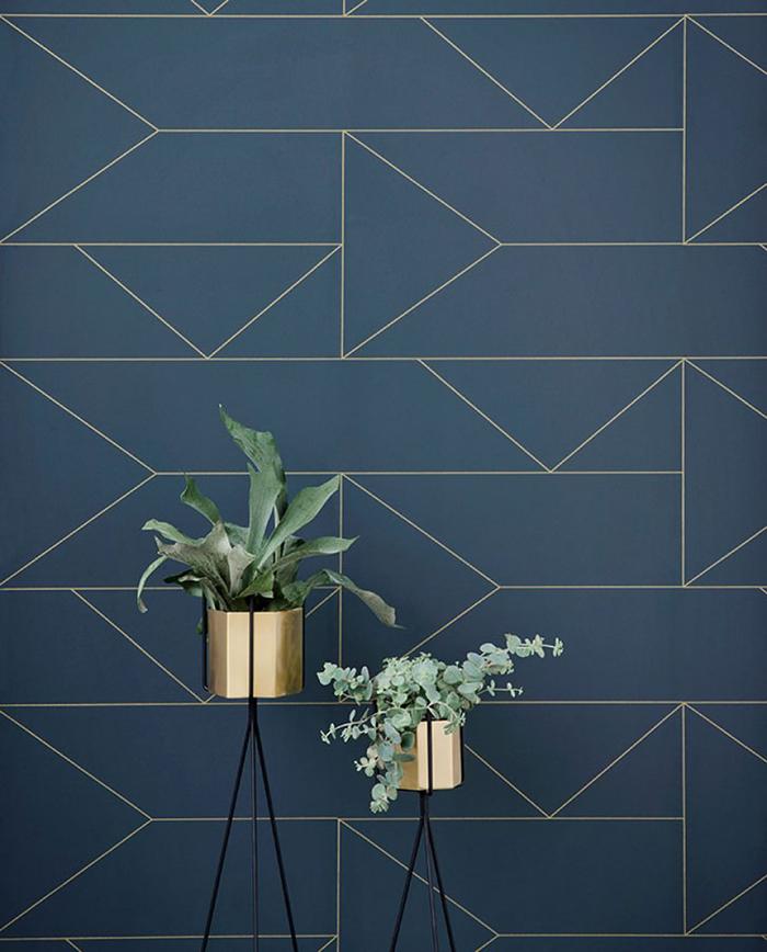 papel de parede azul