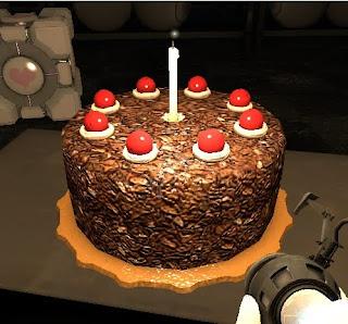 Portal cake videojuego
