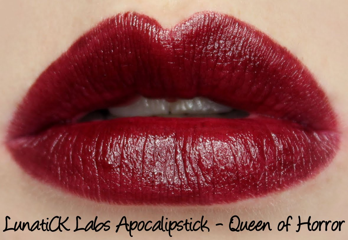 LunatiCK Labs Apocalipsticks - Queen of Horror Swatches & Review