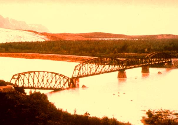 Failure of Million Dollar Bridge on the Copper River Highway in 1964 Alaska