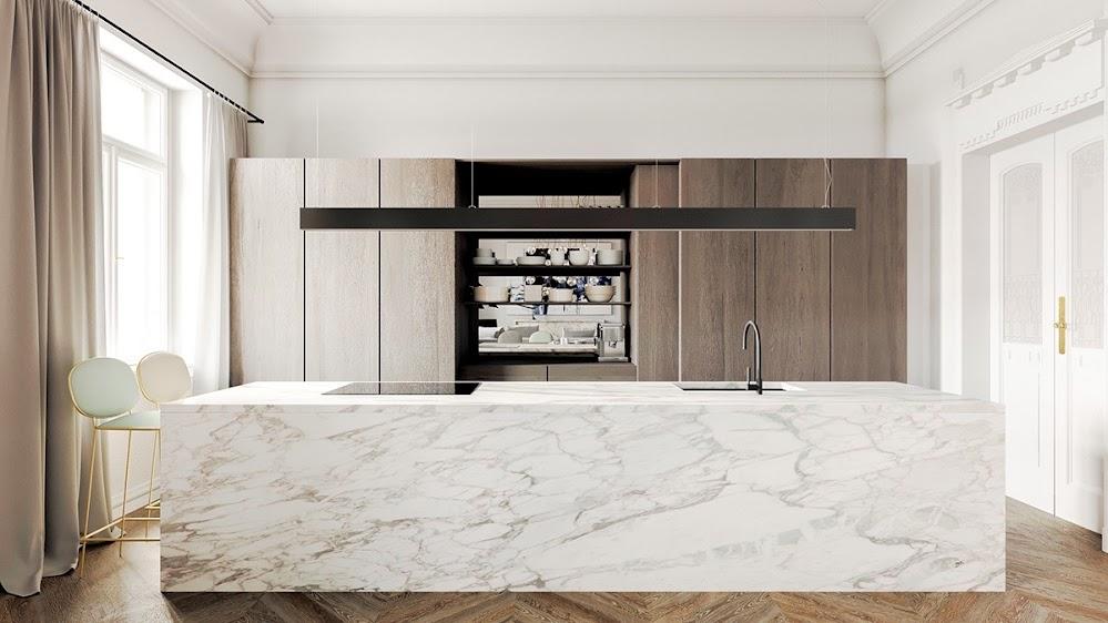 block-bench-wooden-floor-marble-kitchen