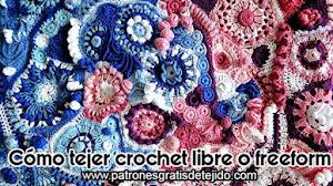 Cómo se teje crochet libre o freeform / Tutorial