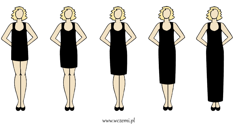 szerokie ramiona w dobrze dopasowanym fasonie sukienki