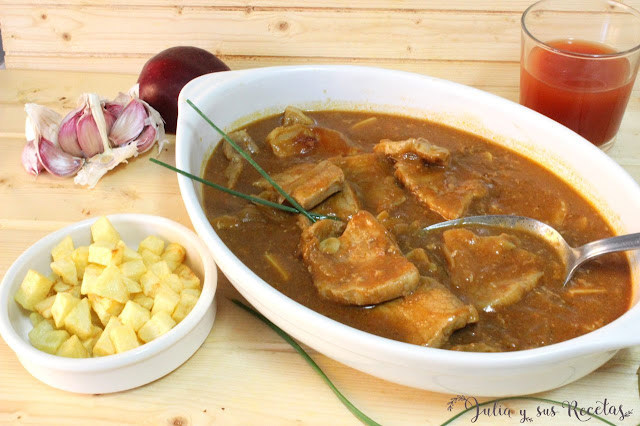 Lomo de cerdo en salsa barbacoa. Julia y sus recetas