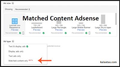 kalautau.com - Matched Content Adsense